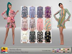 Belaloallure Erica Dress Recolor at Elfdor Sims • Sims 4 Updates