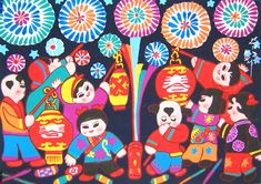 Chinese folk art paintings - Spring Festival