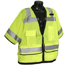 Radians Hi Vis Green Heavy Duty Surveyor Vest Class 3 SV59-3ZGD | Hi Vis Safety Direct , will be any price , call us for direct pricing !