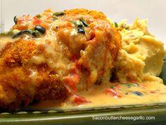 Pepper Jack Cheese Stuffed Doritos Crusted Chicken