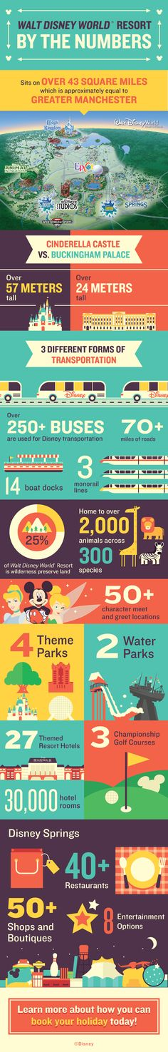 Discover some incredible facts and take a closer look at all of the numbers that make up Walt Disney World Resort!