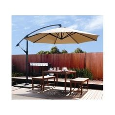 Outdoor Patio Umbrella Offset 10' Hanging Large Cover Canopy Tilting Cantilever