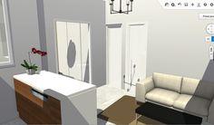 Vista de salón-cocina desde pasillo de entrada hacia dormitorios.