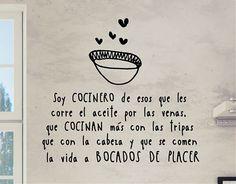 . Vinilos decoración de cocinas con una frase de Alberto Chicote 04499