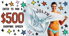 Win a $500 JOLYN Shopping Spree!  Looking for a unique spin on swimwear design with onesies and bikinis that stay put while swimming, surfing and being active? You found it!