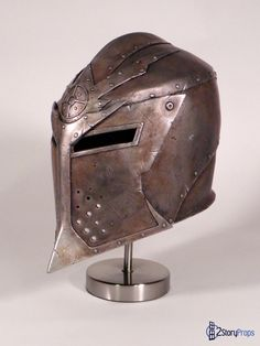 Skyrim Dawnguard Helmet by DoubleZeroFX on DeviantArt Helmet Armor, Warrior Helmet, Knights Helmet, Arm Armor, Body Armor, Medieval Helmets, Medieval Armor, Medieval Fantasy, Armadura Medieval