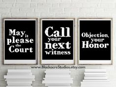 Famous Legal Quotes Print Set - Gift Pack - Lawyer - Court Reporter - Trial Practice - Home Decor - Law School - Lawyer - Digital Wallpaper