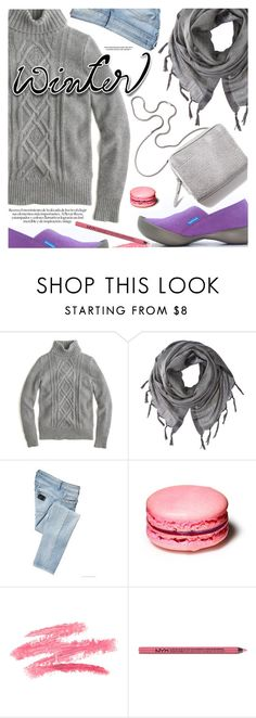 """""""Winter Scarf Style"""" by regettacanoe ❤ liked on Polyvore featuring J.Crew, Love Quotes Scarves, LIU•JO, 3.1 Phillip Lim, Charlotte Russe, scarf, polyvoreeditorial and polyvoreset"""
