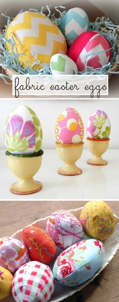 Fabric Easter Eggs And also egg pattern- praise The Lord! What a great solution for kids playing with eggs. Spring Crafts, Holiday Crafts, Holiday Fun, Happy Easter, Easter Bunny, Easter Eggs, Easter Crafts, Crafts For Kids, Diy Crafts