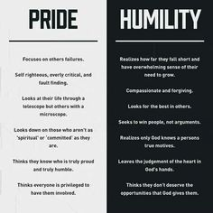 Lord, grant me the grace to be humble!