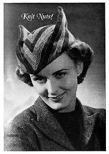 A bizarre knitted hat pattern. I'm tempted to buy it. £2.95