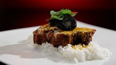 MKR4 Recipe - Babi Guling with Blood Sausage and Snake Beans