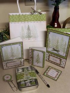 Lovely As A Tree Christmas Gift Set by SassiAngel - Cards and Paper Crafts at Splitcoaststampers