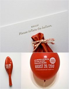 save the date! Balloon
