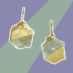 RockStars: raw andesine and recycled gold earrings Stickers Online, Cute Jewelry, The Rock, Gold Earrings, Summertime, Recycling, Jewellery, Gold Stud Earrings, Gold Pendants