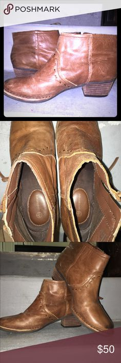 Leather ankle cowboy boots 7 Gorgeous genuine leather boots. Gianni Bernini. Brand new. Beautiful condition. Shoes Ankle Boots & Booties