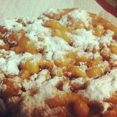 How to make a funnel cake with pancake mix.