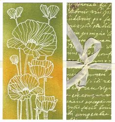 Hero Arts Card poppies in Delicate Blooms stamp
