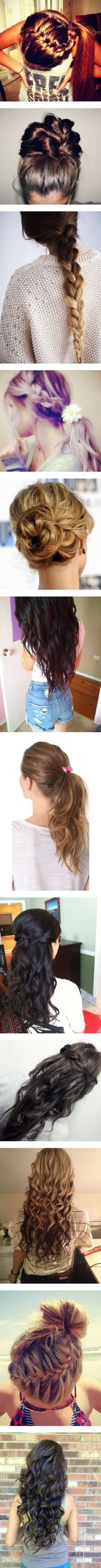Cute hairstyles... SO CUTE!