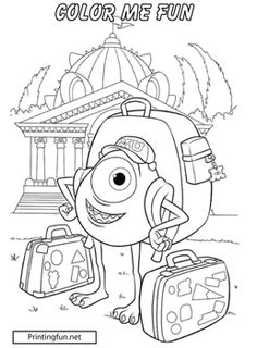 coloring Page, Monsters Inc, Party Decorations - Free Printable Ideas from Family Shoppingbag.com