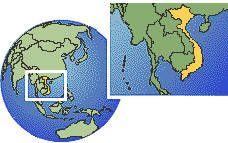 Viêt Nam carte de localisation de fuseau horaire frontières