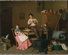 """""""Just Moved"""" by Henry Mosler (1870) at the Metropolitan Museum of Art, New York"""