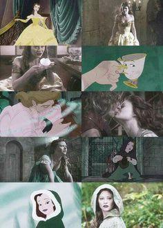 Belle & her Disney counterpart.