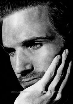 Portrait of Ralph Fiennes by Sadness on Stars Portraits, the biggest online gallery for celebrity portraits. Fiennes Ralph, Ralph Fiennes Voldemort, Gorgeous Men, Beautiful People, Day Lewis, Black And White Portraits, Star Wars, Famous Faces, Male Beauty