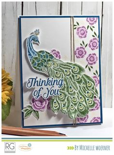 Stop and Stamp the roses. Fun Stampers Journey Stitched Elegance stamp set. #peacock #fsj #funstampersjourney