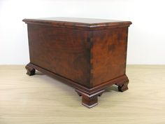 Figured Cherry Miniature Blanket Chest / Keepsake Box