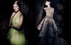 Malgosia Bela, Guinevere Van Seenus & Mariacarla Boscono 'Couture Allure' Paolo Roversi, Vogue Italia | fashionCOW