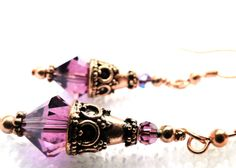 Gothic Amethyst Earrings  Heathcliff might have by  purchased these for Catherine if he had the chance...ETSY: jlisiecki, $18.00