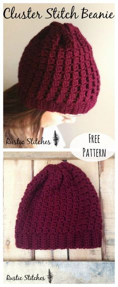 Crochet Adult Beanie or Slouch - FREE PATTERN