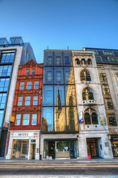 Buildings on Fenchurch Street, reflecting St Margaret Pattens (church), London