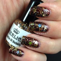 """Polished And Shined: Laquerlicious """"Bottle Of Bubbly"""", indie nail polish, New Years nails"""