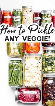 Fermentation Recipes, Canning Recipes, Beef Recipes, Vegetarian Recipes, Healthy Recipes, Vegan Vegetarian, Canning Tips, Cooker Recipes, Canned Vegetable Recipes