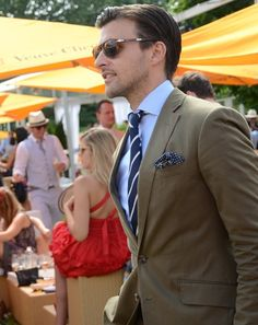 Blue and Brown. Love this look - so handsome!