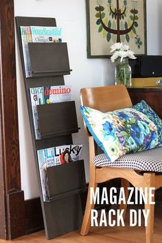DIY: magazine rack