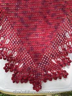 ABC Knitting Patterns - Mountain Ash Shawl Crochet Cardigan Pattern, Crochet Shawl, Free Crochet, Shawl Patterns, Knitting Patterns, Crochet Patterns, Basic Crochet Stitches, Crochet Basics, Half Double Crochet