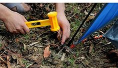 Generic professional outdoor ABS PE plastic hammer knocking camping nails installation purpose portable ultra light weight hammer -- Continue to the product at the image link.