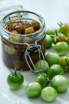 Chutney de tomates cerises vertes au gingembre