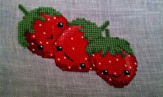 July: Strawberries | Pattern from the Frosted Pumpkin Stitch… | Karen | Flickr