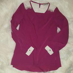 Chloe K top Size Med Worn once Nordstroms bp section Color is Berry Chloe K Tops Blouses