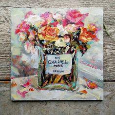 """Roses in the glass"" – Valerie Lazareva Impressionist, Art For Sale, Fine Art, Glass, Artist, Roses, Painting, Palette Knife, Drinkware"