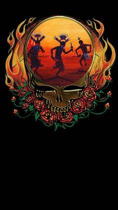 Grateful Dead Native American Apache Clown by on DeviantArt Grateful Dead Image, Grateful Dead Poster, Grateful Dead Dancing Bears, Skull Logo, Skull Art, Grateful Dead Wallpaper, American Wallpaper, Trippy Pictures, Native American Art