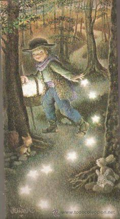 Vell i Bell Cicely Mary Barker, Sun And Stars, Beautiful Fairies, Cute Characters, Children's Book Illustration, Whimsical Art, Vintage Prints, Vintage Christmas, Fantasy Art