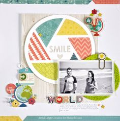 Scrapbook Layout: Shimelle Challenge: Maps and globes