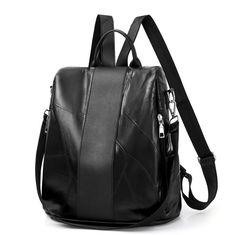 Women Leather Backpack School Bag For Teenager Girls Ladies Daily Shoulder Bag Top-Handle Anti Theft Backpacks Trendy Handbags, Small Handbags, Tote Backpack, Leather Backpack, Anti Theft Backpack, Travel Handbags, Designer Backpacks, School Backpacks, School Bags
