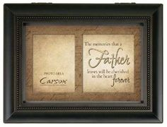 "Carson Home Accents' Father Memories Bereavement #Music #Box is a beautiful memento to remember someone special. It plays the tune ""Amazing Grace"" when opened."