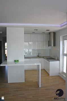 Nowoczesna kuchnia połączona z Salonem - Średnia kuchnia, styl minimalistyczny - zdjęcie od ABCkuchnie